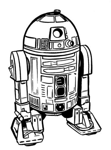 r2d2 coloring pages - photo #24